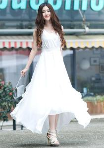 korean white dress